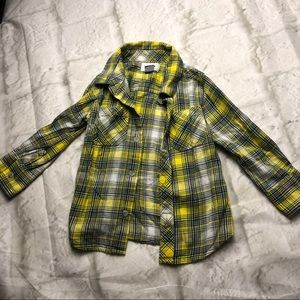 💥 5/$25 SALE! 2T boys yellow flannel plaid shirt